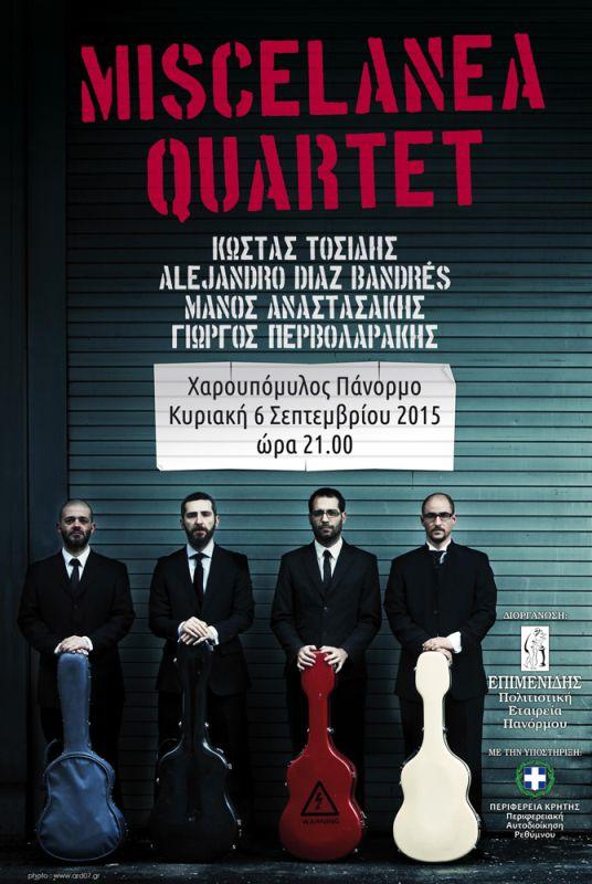 Miscelanea-quartet-Carob-Mill-6-sept-2015-poster